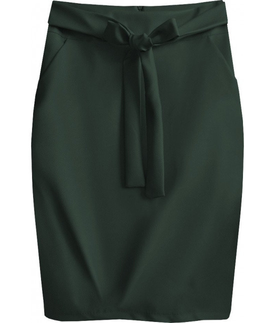 Dámska sukňa z eko-kože MODA528 tmavozelená