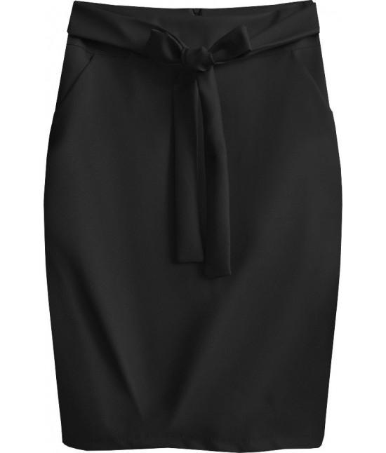 Dámska sukňa z eko-kože MODA528 čierna
