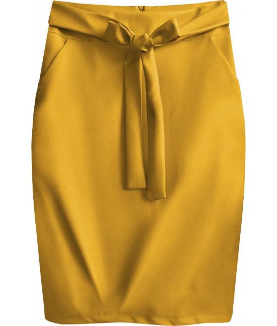 Dámska sukňa z eko-kože MODA528 žlté
