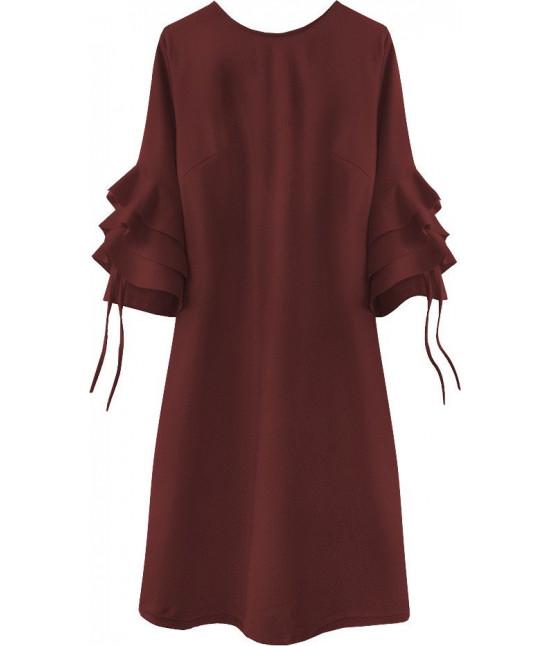Dámske elegantné šaty MODA533 bordové