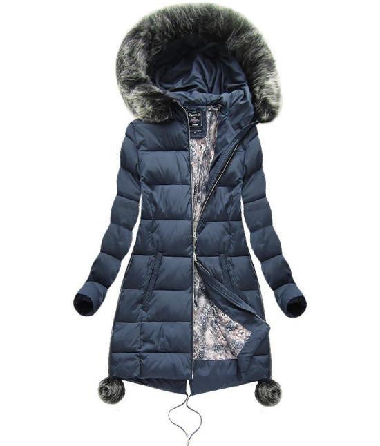Dámska zimná bunda MODA739 modrá veľkosť 5XL