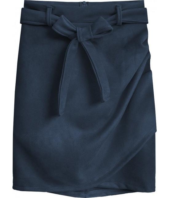 Dámska semišová sukňa MODA527 tmavomodrá