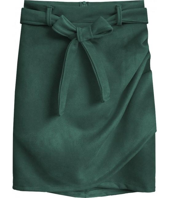 Dámska semišová sukňa MODA527 zelená