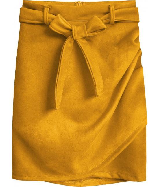 Dámska semišová sukňa MODA527 žltá