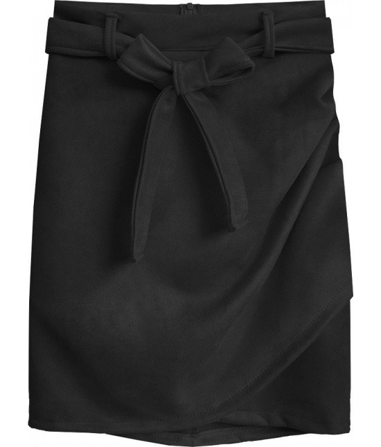 Dámska semišová sukňa MODA527 čierna