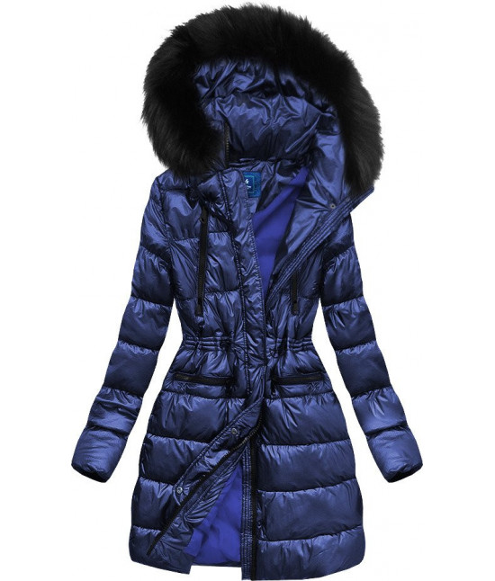 Dámska zimná bunda MODA005 modrá