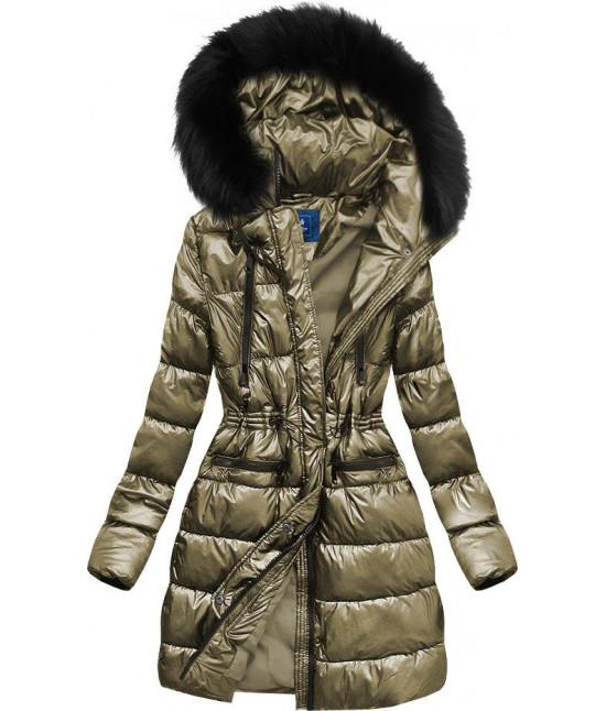 Dámska zimná bunda MODA005 zlatá