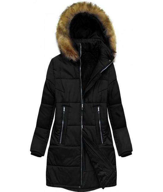 Dámska zimná bunda MODA627BIG čierna 6XL