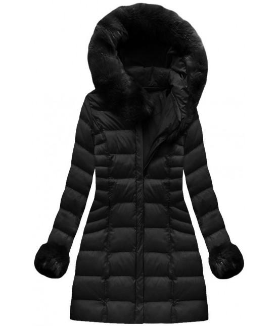Dámska zimná bunda MODA751BIG čierna veľkosť 5XL