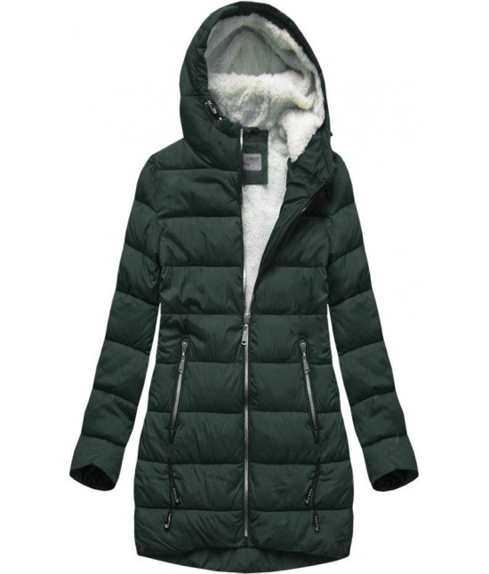 Prešívaná dámska zimná bunda MODA642 zelená veľkosť XL