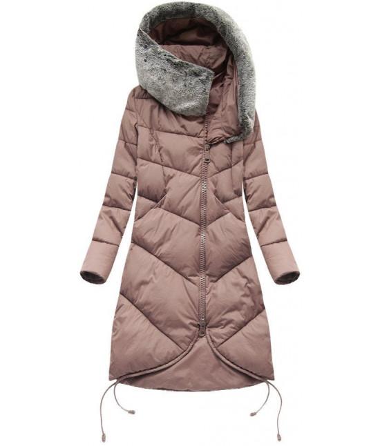 Dámska zimná bunda MODA002 staroružová