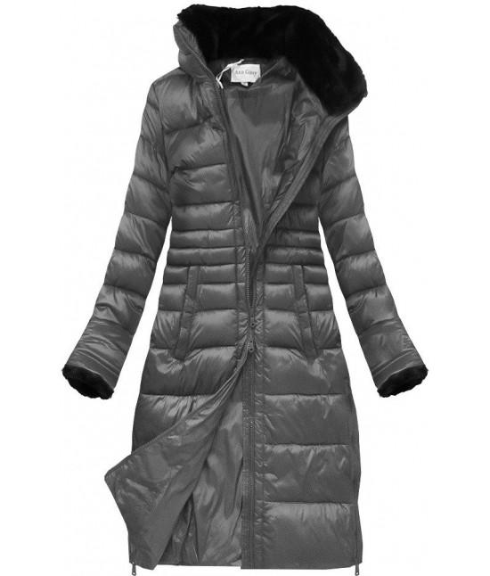 Prešívaná dámska zimná bunda MODA017 šedá