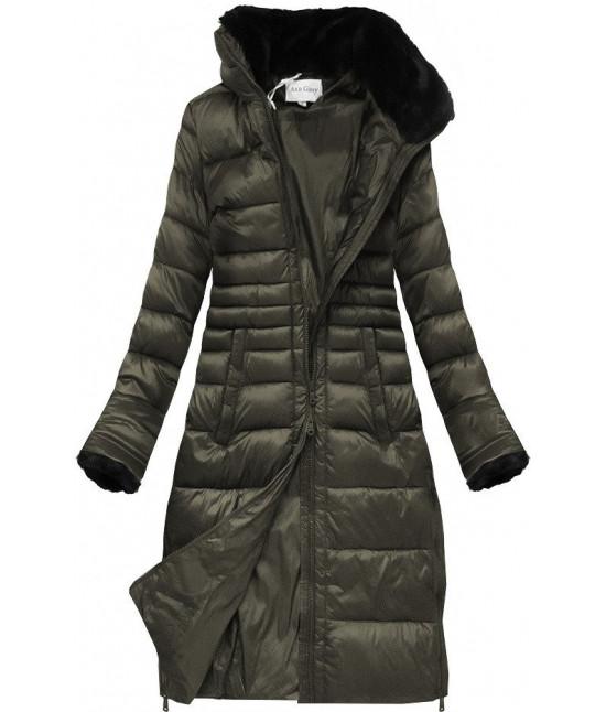 Prešívaná dámska zimná bunda MODA017 khaki