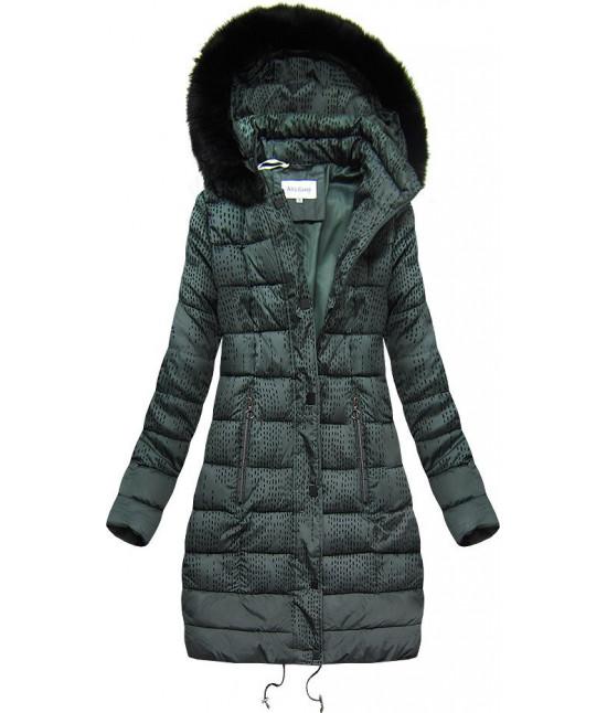 Prešívaná dámska zimná bunda MODA003 zelená