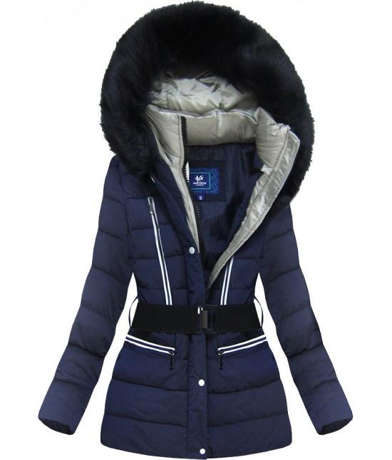 Dámska zimná bunda MODA8-610 tmavomodrá