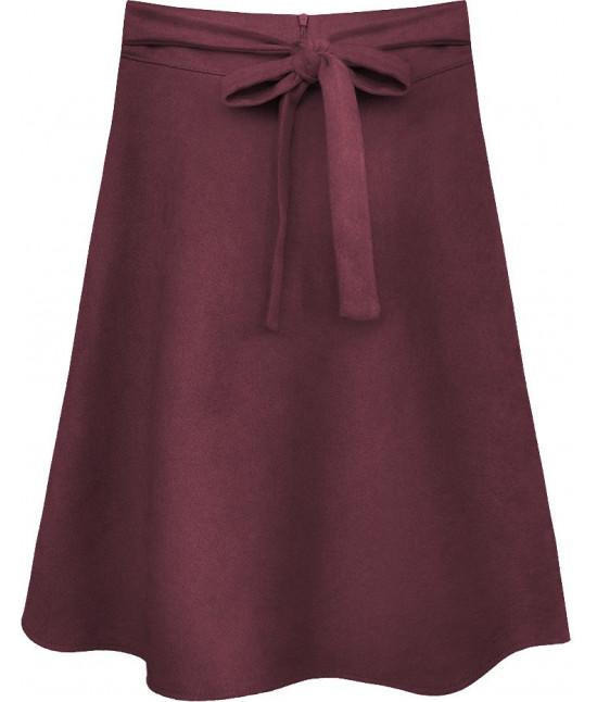 Dámska sukňa MODA537 bordová