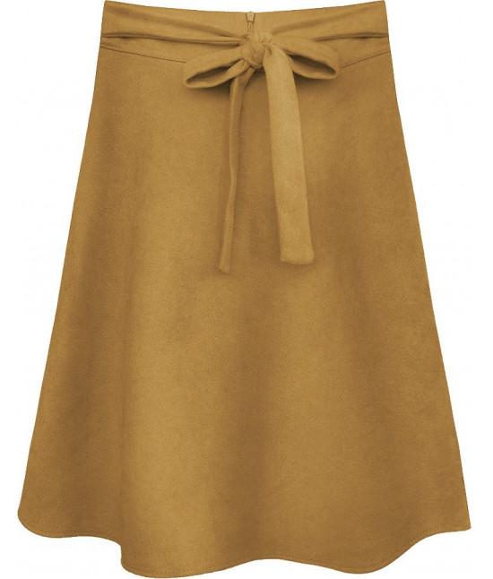 Dámska sukňa MODA537 svetlohnedá