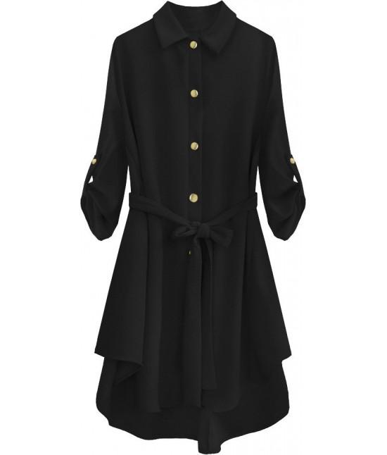 Dámska dlhá košeľa MODA538 čierna