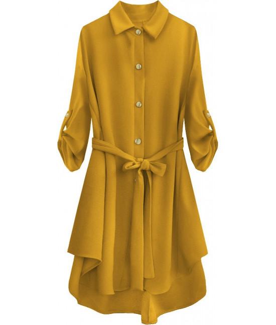 Dámska dlhá košeľa MODA538 žltá