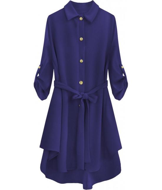 Dámska dlhá košeľa MODA538 modrá