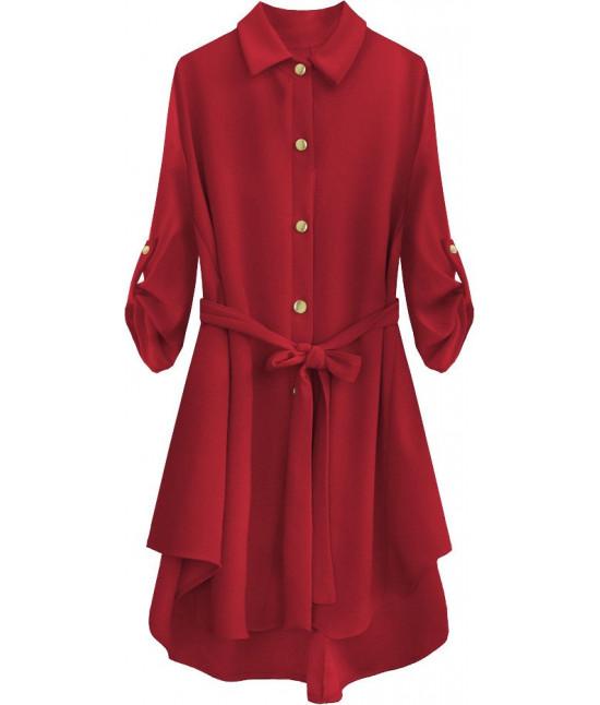 Dámska dlhá košeľa MODA538 červená