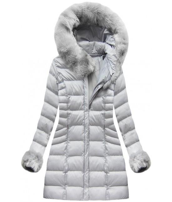 Dámska zimná bunda MODA751BIG šedá