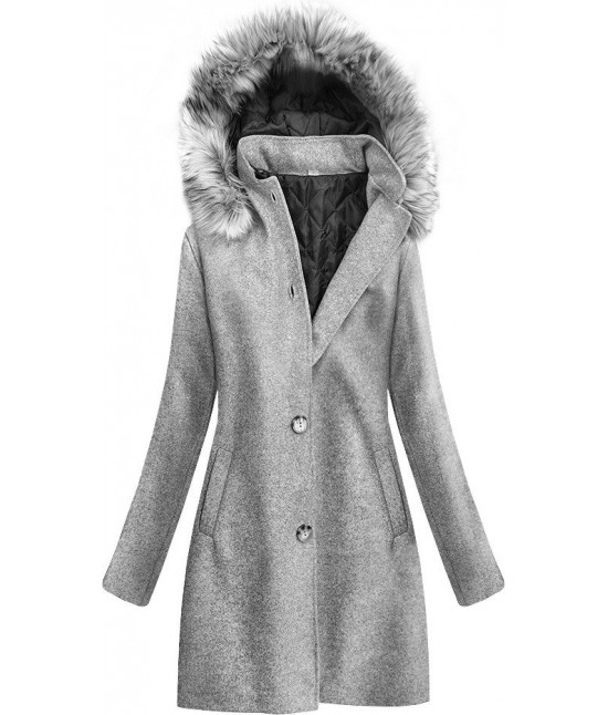 Dámsky bavlnený kabát MODA535 šedý
