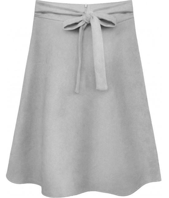 Dámska sukňa MODA537 svetlošedá