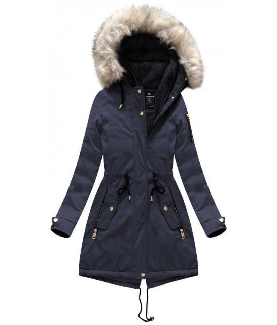 Dámska zimná bunda parka MODA630 modrá veľkosť S