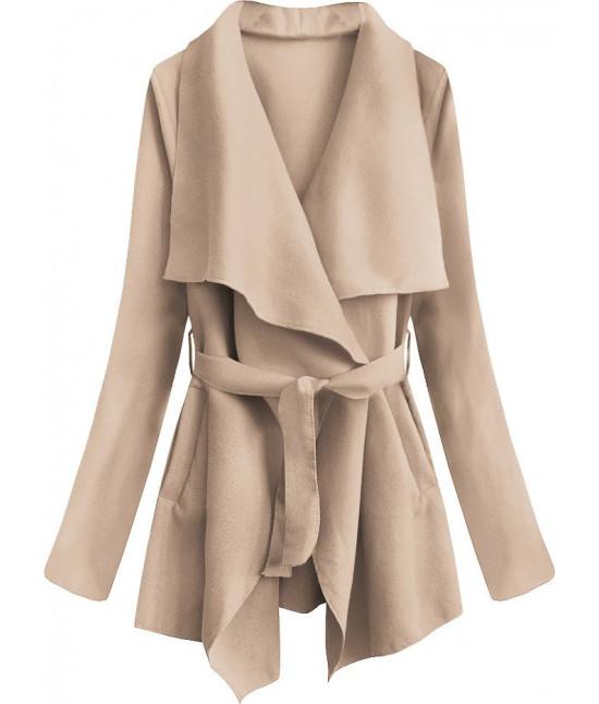 Dámsky jarný plášť MODA553 staroružový