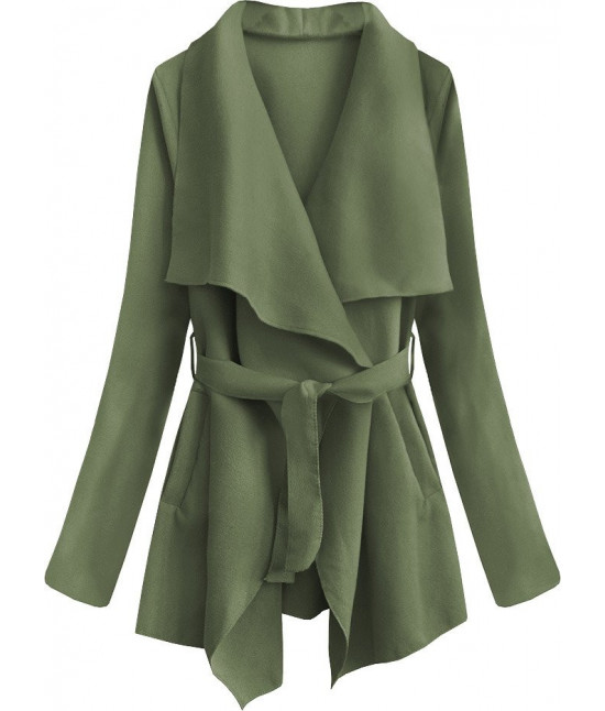 Dámsky jarný plášť MODA553 zelený