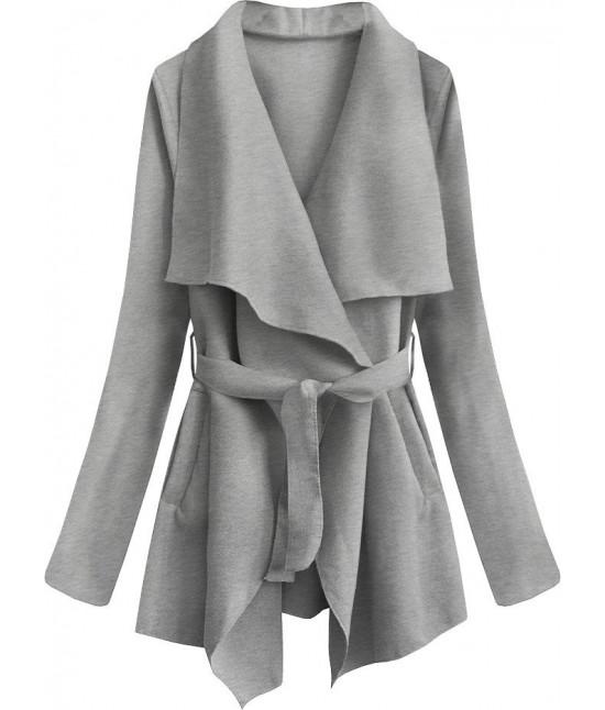 Dámsky jarný plášť MODA553 šedý