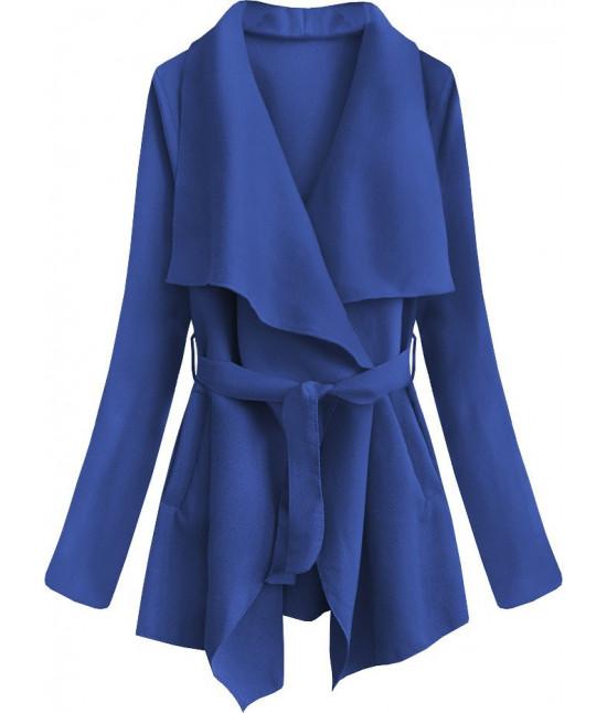 Dámsky jarný plášť MODA553 modrý