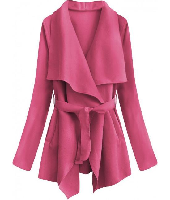 Dámsky jarný plášť MODA553 ružový
