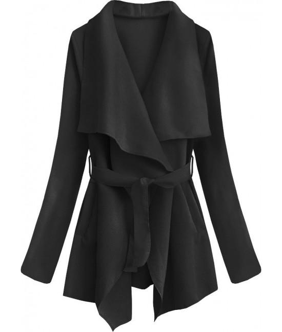 Dámsky jarný plášť MODA553 čierny