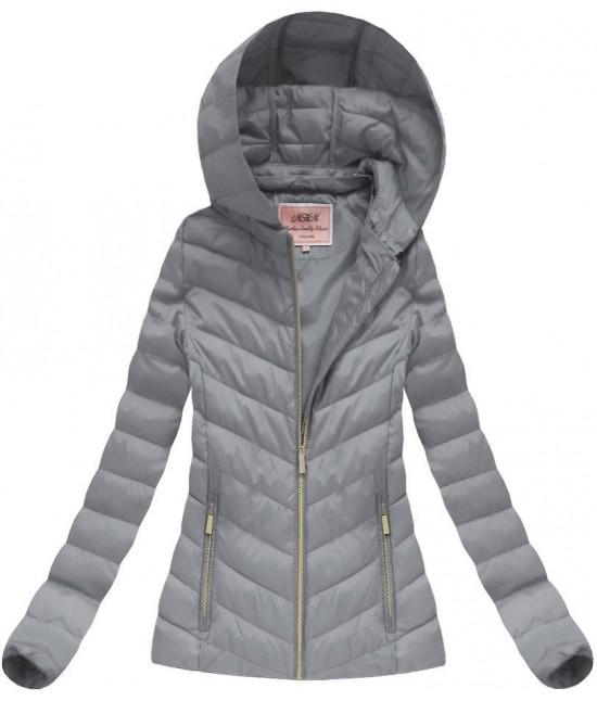 Dámska prechodná jarná bunda šedá W70BIG 4XL