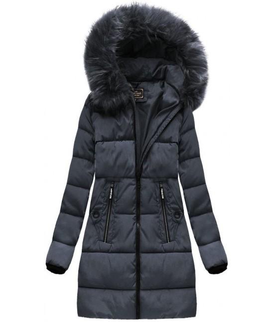 Dámska zimná bunda MODA7756 tmavošedá veľkosť S