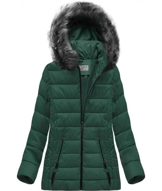 Prešívaná dámska zimná bunda MODA505 zelená veľkosť 4XL