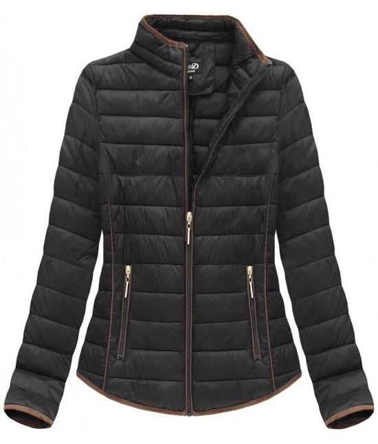 Dámska jarná bunda MODA088BIG čierna 3XL