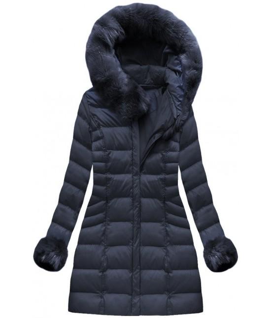 Dámska zimná bunda MODA751BIG tmavomodrá 5XL