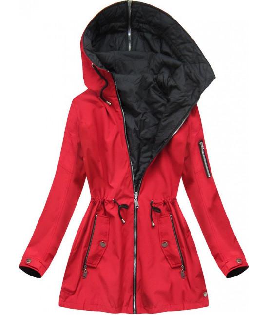 Dámska obojstranná jarná bunda MODA640BIG červená