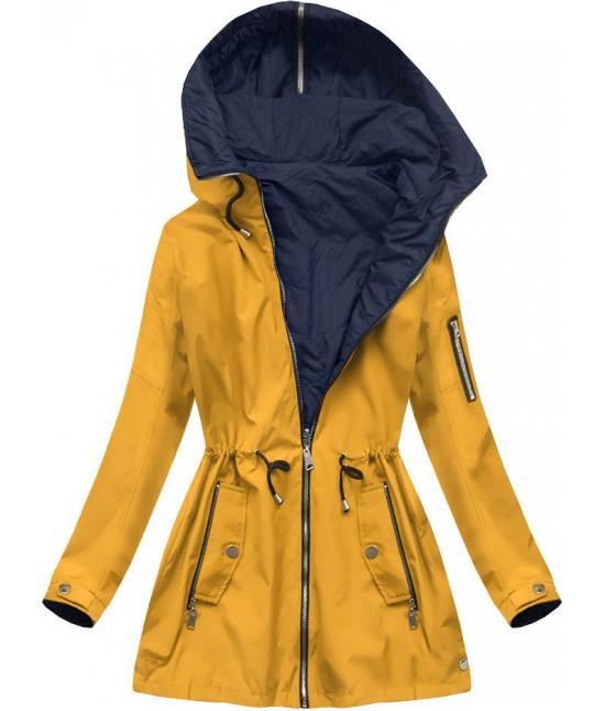 Dámska obojstranná jarná bunda MODA640BIG žltá