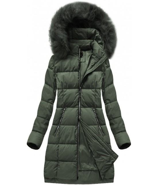 Dámska zimná bunda MODA702 khaki veľkosť S