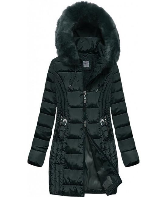 Prešívaná dámska zimná bunda MODA2620BIG zelená veľkosť 5XL