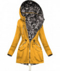 Dámska obojstranná jarná bunda MODA306 žlto-maskáčová