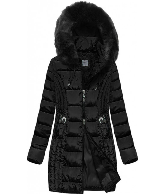 Prešívaná dámska zimná bunda MODA2620BIG čierna 7XL