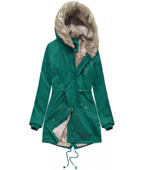 Dámska zimná bunda parka MODA508 tyrkysová XL