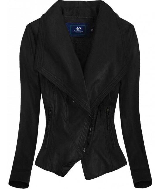 Dámska koženková bunda MODA002 čierna