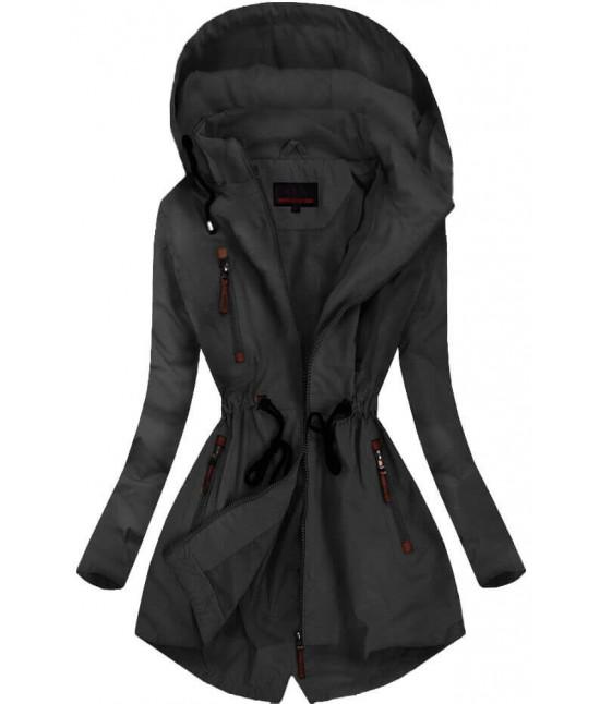 Dámska prechodná bunda MODA028BIG čierna