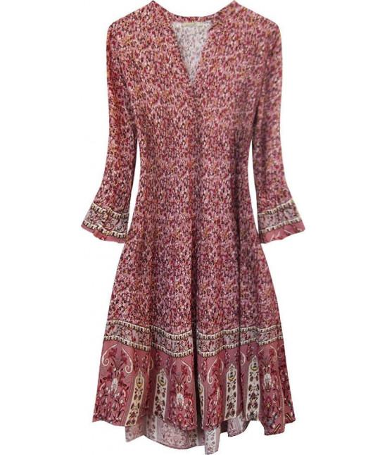 Dámske šaty MODA574/1 ružové